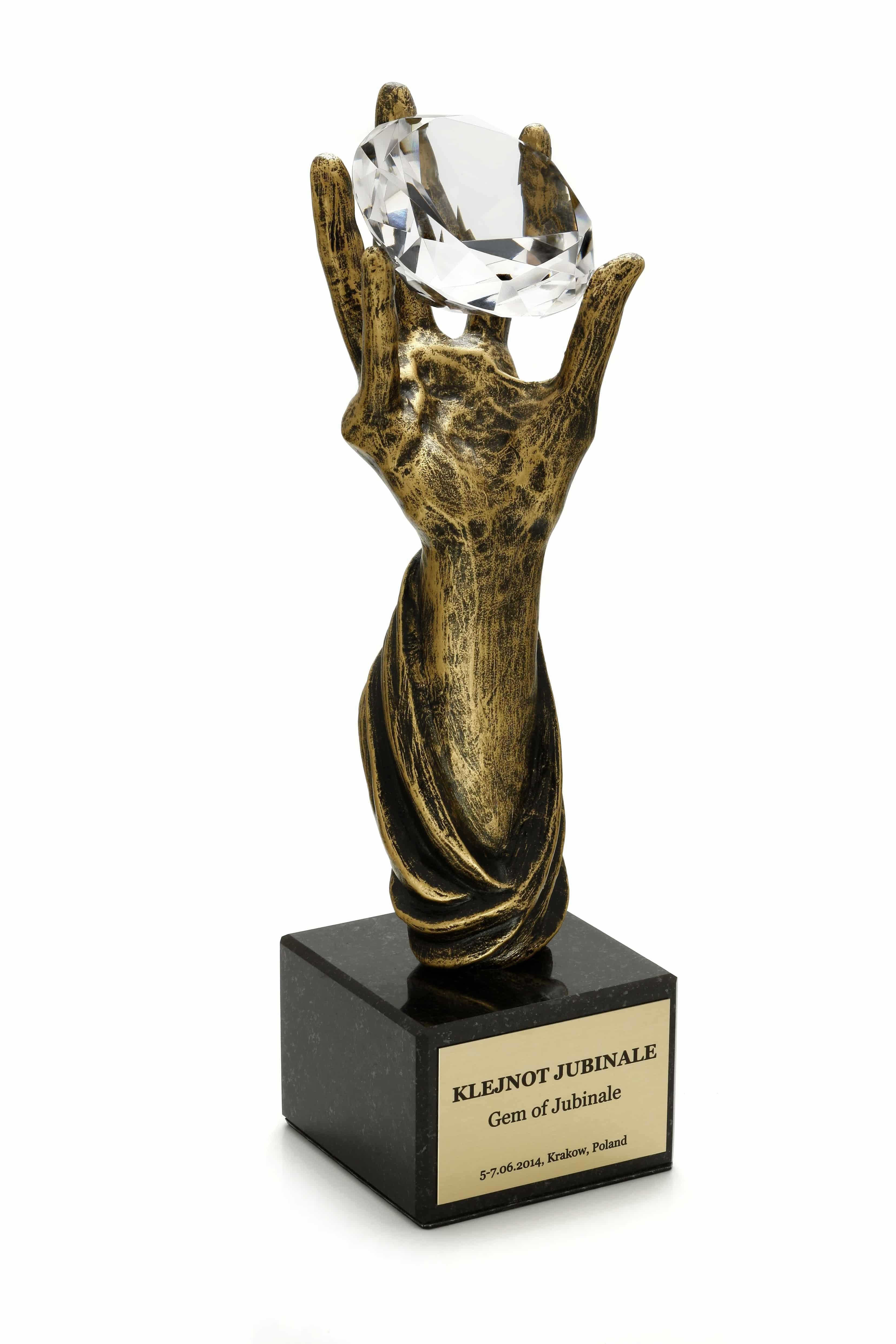 1-statuetkaKlejnotJubinale1 Letnie Targi Biżuterii i Zegarków 11-13 czerwca 2015